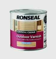 Ronseal Crystal Clear Outdoor Varnish 250ml - Satin
